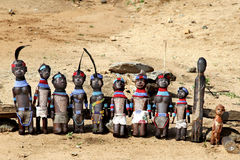 The African dolls Stock Photos