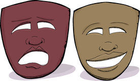 African Drama Masks Stock Images