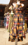 African Dresses. Photographed at an outdoor market in Accra Ghana royalty free stock photo