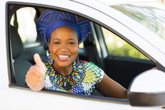 African driver thumb up Royalty Free Stock Photo