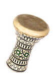 African drum. An African drum isolated on a white background Stock Photography