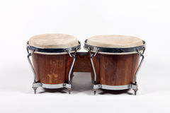 African drum. The image of ethnic african drum under the white background Royalty Free Stock Photo