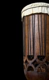 African drum. On black background Royalty Free Stock Photo