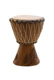 African drum. Isolated on white Stock Photos
