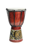 African drum isolated on a white background. African drum isolated on a white Royalty Free Stock Photos