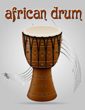 African drum musical instruments stock vector illustration Royalty Free Stock Photo
