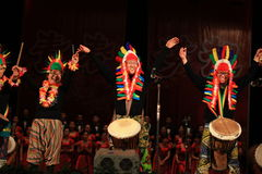 African drum show in  new year  show Stock Photos