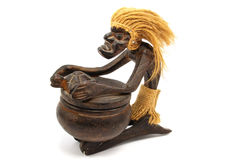 African drummer. Statuette of the african drummer on white background Stock Photo
