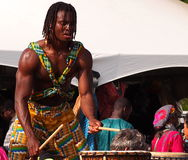 African Drummer. At Edmonton Alberta Heritage Day Celebration August 4. 2014 Royalty Free Stock Photos