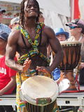 African Drummer. At Edmonton Alberta Heritage Day Celebration August 4. 2014 Royalty Free Stock Images