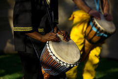 African Drummers. African traditional drummer Royalty Free Stock Photos