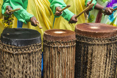 African drummers. Detail of some african drummers Royalty Free Stock Images