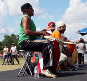 African Drummers At Edmonton's Heritage Days 2013 Royalty Free Stock Images