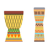 African drums vector illustration. Royalty Free Stock Image