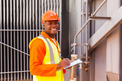 African electrical worker Royalty Free Stock Photos