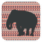 African elephant icon Royalty Free Stock Photos