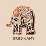 African elephant. With patterns EPS 8.0 vector illustration