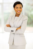 African entrepreneur arms crossed Royalty Free Stock Photography