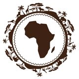 African ethnic background in design flat style Royalty Free Stock Image