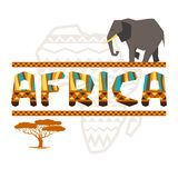 African ethnic background with geometric ornament Stock Photos