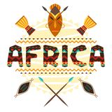 African ethnic background with geometric ornament Stock Image