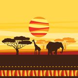 African ethnic background with illustration of Royalty Free Stock Images