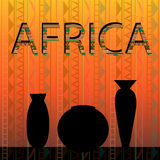 African ethnic dishes Royalty Free Stock Image