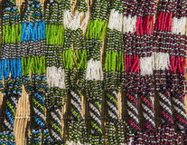 African ethnic handmade beads necklace. Local craft market. South Africa. Royalty Free Stock Images
