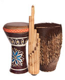 African ethnic musical instruments Royalty Free Stock Image