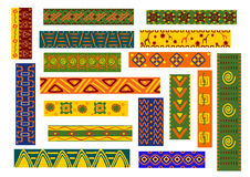 African ethnic ornaments and decorative patterns Royalty Free Stock Image