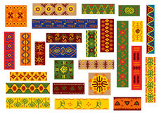 African ethnic ornaments and national patterns Royalty Free Stock Photos