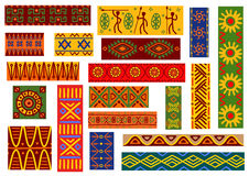 African ethnic ornaments and national patterns Royalty Free Stock Images