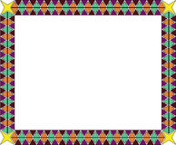 Free African Ethnic Pattern S Frame With Triangles Stock Images - 64826114