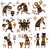 African ethnic patterns Royalty Free Stock Photo