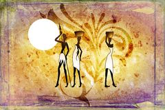 African ethnic retro vintage art Royalty Free Stock Images