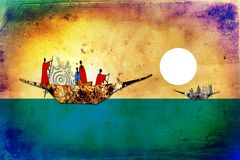 African ethnic retro vintage art Royalty Free Stock Photography