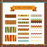 African ethnic seamless ornaments and pattern. Brushes Royalty Free Stock Photo