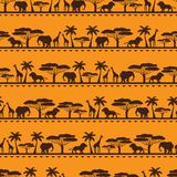 African ethnic seamless pattern in flat style Stock Image