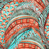 African ethnic seamless watercolor pattern, Stock Images