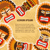 African ethnic tribal masks Stock Images