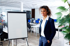 African ethnic woman with presentation board Stock Photography