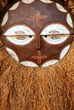 African ethnic wooden warrior shield Royalty Free Stock Photo
