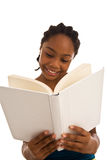 African ethnicity adolescent female holding a textbook Royalty Free Stock Photography