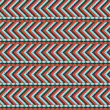 African ethno abstract seamless pattern with decorative folk ele Royalty Free Stock Photos
