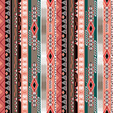 African ethno abstract seamless tribal pattern with decorative f. Olk elements background Royalty Free Stock Photo