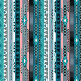 African ethno abstract seamless tribal pattern with decorative f. Olk elements background Royalty Free Stock Image