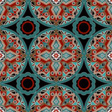 African ethno abstract seamless tribal pattern with decorative f Stock Image