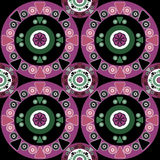 African ethno abstract seamless tribal pattern with decorative f Royalty Free Stock Photography