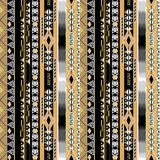 African ethno abstract seamless tribal pattern. With decorative folk elements background Royalty Free Stock Photos