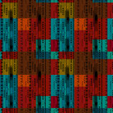 African ethno abstract seamless tribal pattern with folk element Stock Image